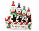 Picture of  Sledding Penguin Family of  4