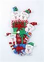 Picture of Snowman Family of 5 on Presents