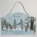 Picture of Snowman Couple with 5 kids plaque