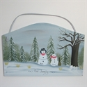 Picture of Single Snowman with 1 kid plaque