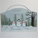 Picture of Single Snowman with 2 kids plaque