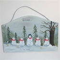 Picture of Single Snowman with 4 kids plaque