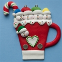 Picture of Snowman family of 5 on Mug