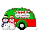 Picture of Snow Couple in Camper with 3 kids