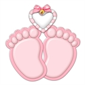 Picture of Baby Feet- Pink