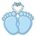 Picture of Baby Feet- Blue