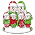 Picture of Snow Couple in PJs with 4 kids